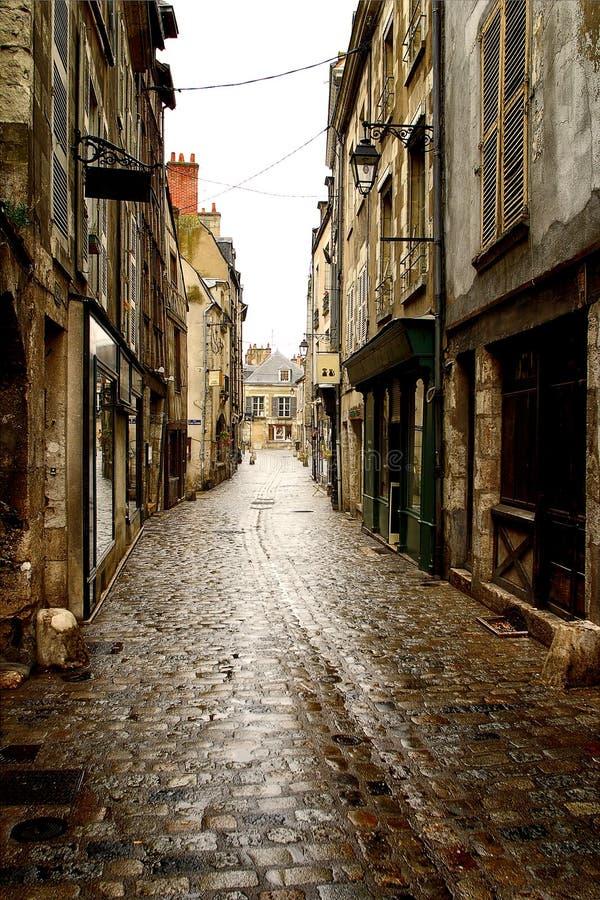 Historisches Straßendetail stockbild
