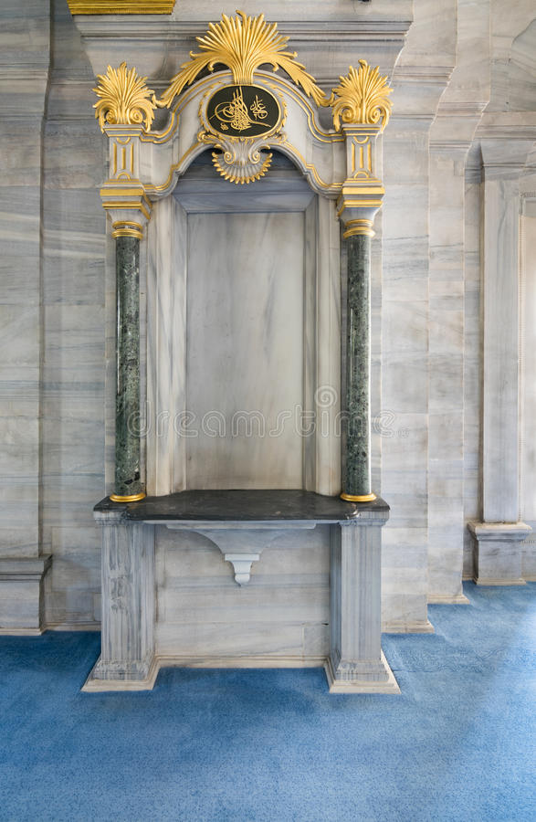 Historisk ärke- ramnisch inbäddad i en marmorvägg fotografering för bildbyråer