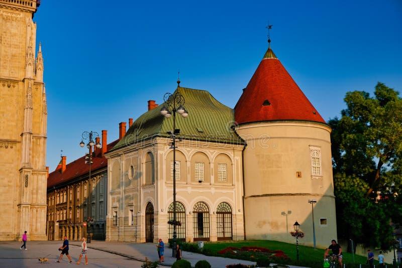 Historisk ärkestift av Zagreb byggnad, Kroatien royaltyfri foto