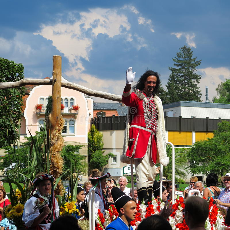 Historisk adelsman som beskrivas på lysande festspel royaltyfria foton