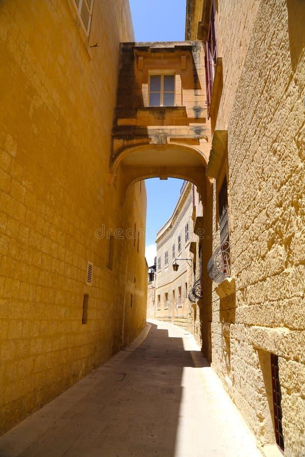 Historisk arkitektur i Mdina arkivfoton