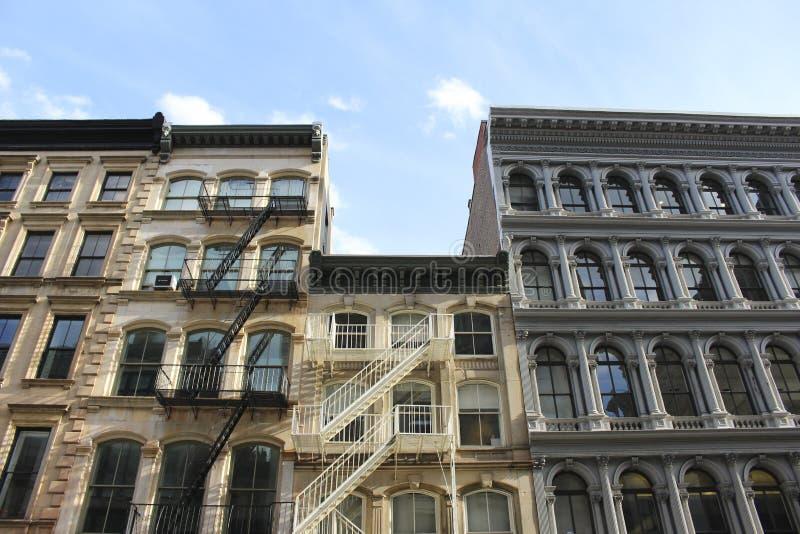 Historisk arkitektur i New York City royaltyfria bilder