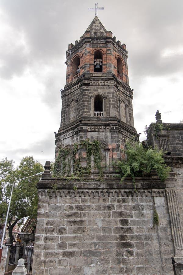 Historisk barasoainkyrka Vår fru av Mt Carmel Parish, Malolos City, Bulacan royaltyfria foton