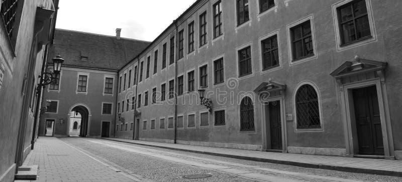 Historisk borggård arkivfoton