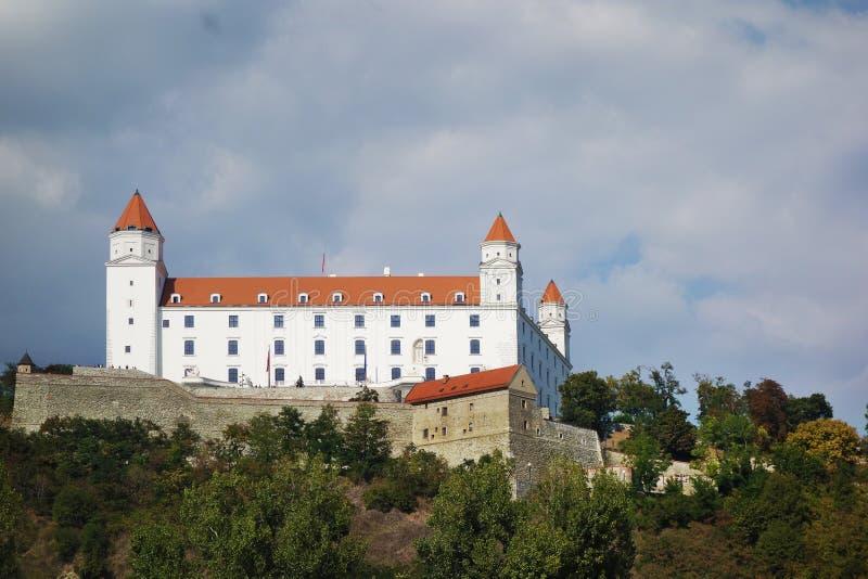 Historisk Bratislava slott arkivfoto
