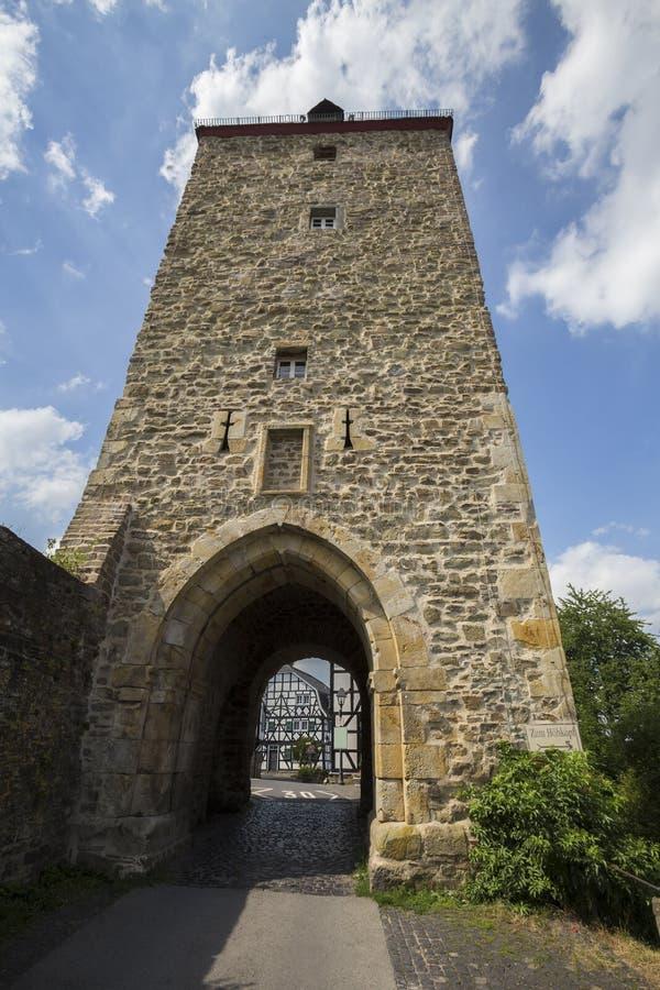 Historisk byblankenberg i Tyskland royaltyfri fotografi