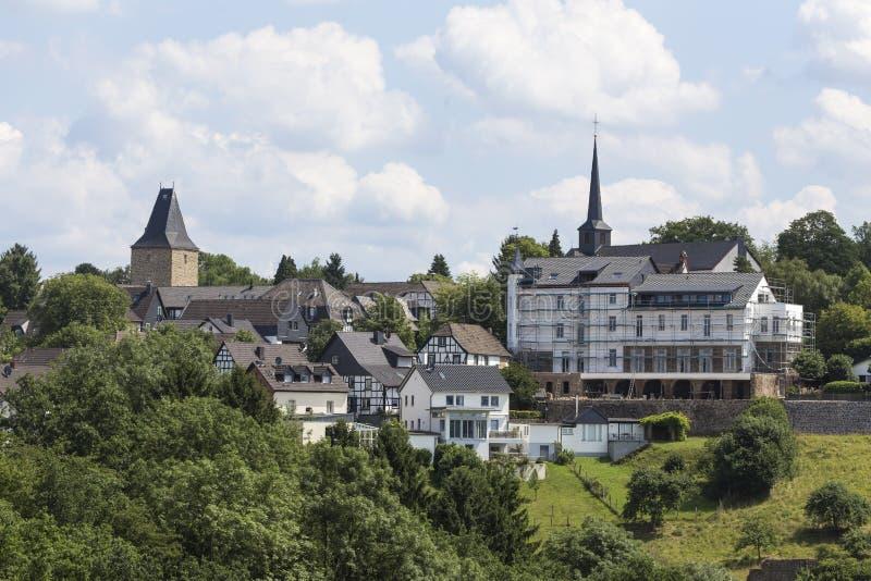 Historisk byblankenberg i Tyskland royaltyfri bild