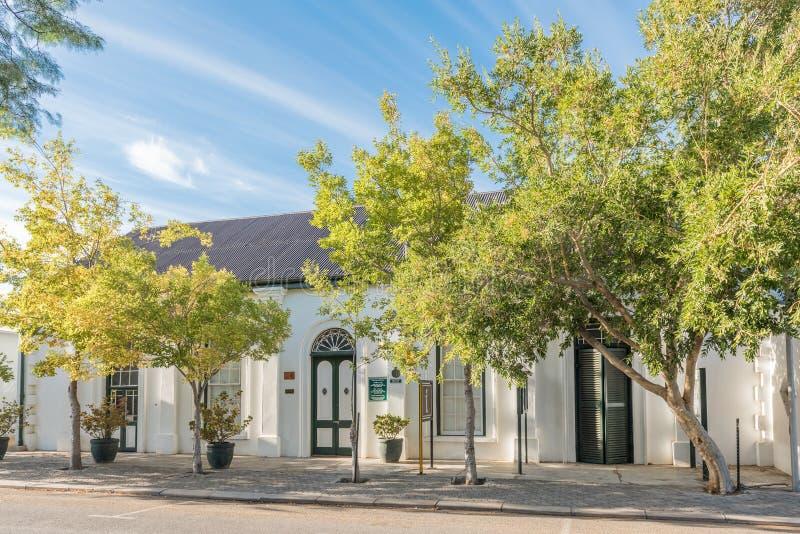 Historisk byggnad av turismanslutningen i Montagu arkivfoton