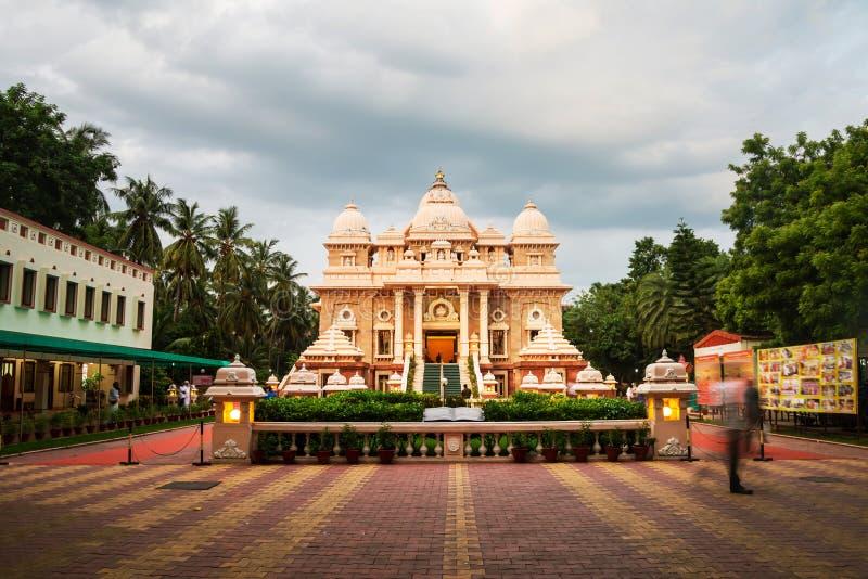 Historisk byggnad för Sri Ramakrishna matematik i Chennai royaltyfri foto