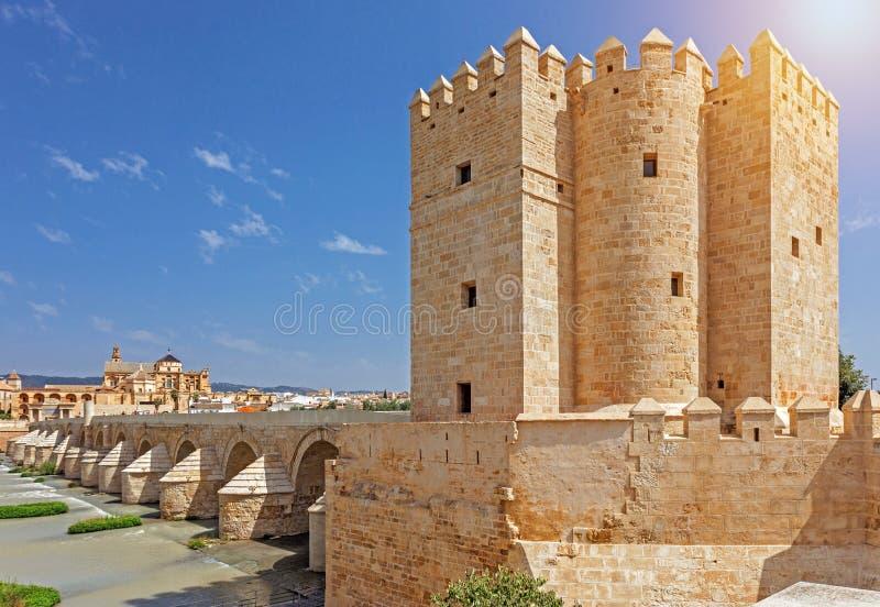 Historisk byggnad i Cordoba, Spanien arkivbild