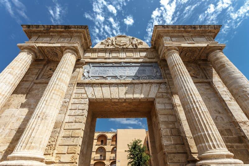 Historisk byggnad i Cordoba, Spanien arkivfoton