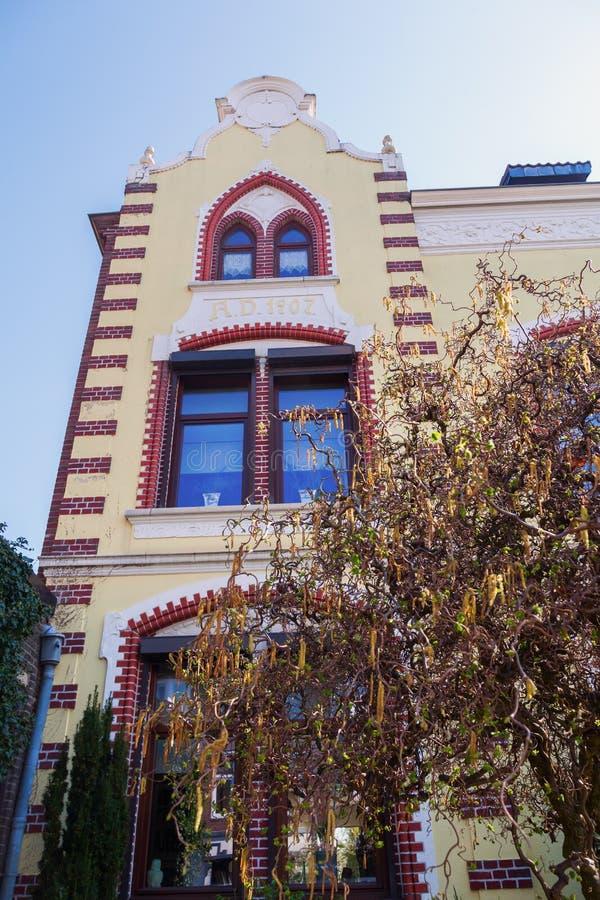 Historisk byggnad i Heerlen, Nederländerna arkivbilder