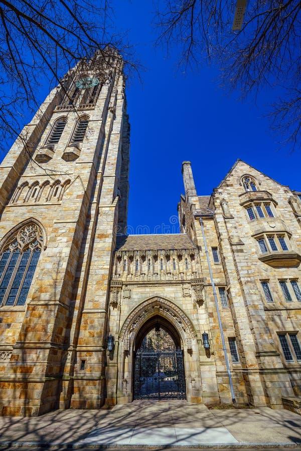 Historisk byggnad i i stadens centrum New Haven arkivbilder