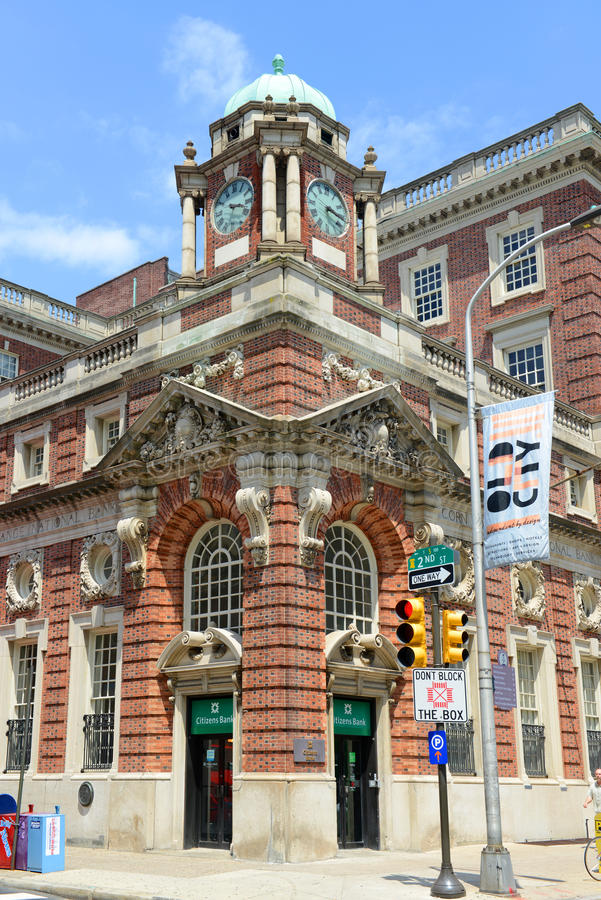 Historisk byggnad i i stadens centrum Philadelphia, Pennsylvania royaltyfria foton