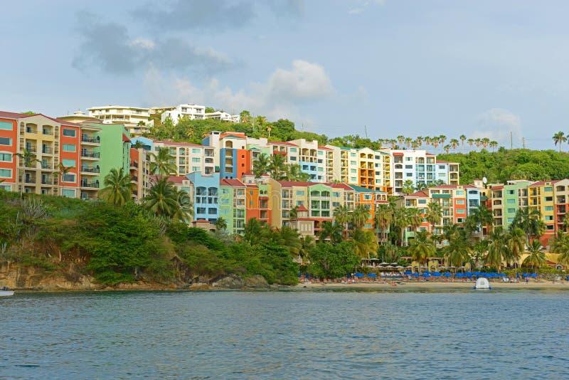 Historisk byggnad på St Thomas Island, USA Jungfruöarna, USA royaltyfri foto