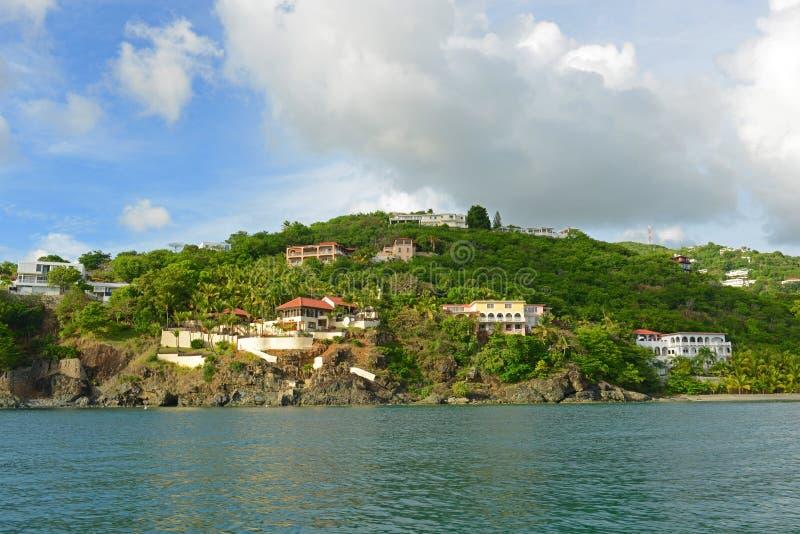 Historisk byggnad på St Thomas Island, USA Jungfruöarna, USA royaltyfria bilder