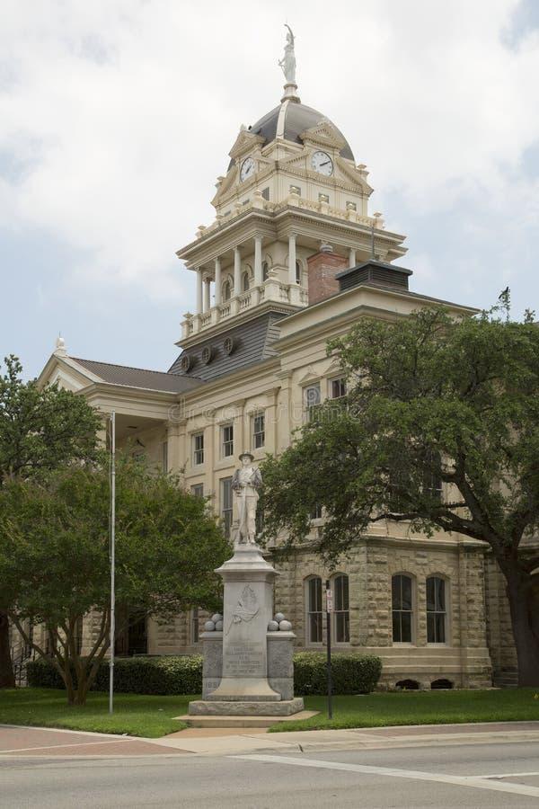 Historisk byggnadBell County domstolsbyggnad arkivbild