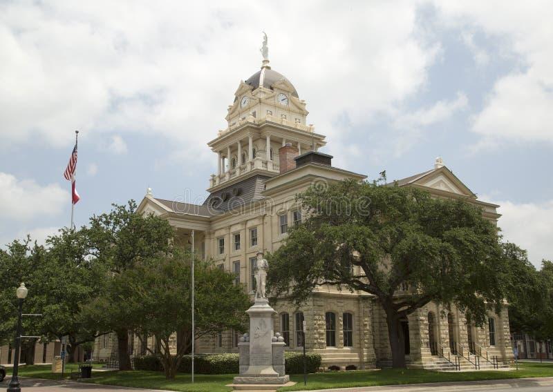 Historisk byggnadBell County domstolsbyggnad TX arkivfoto
