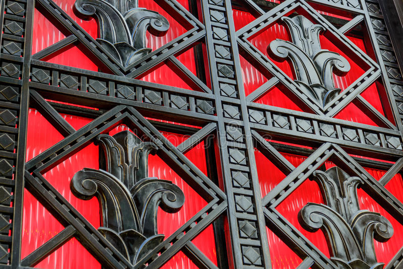 Historisk byggnaddetaljer i Philadelphia arkivfoton