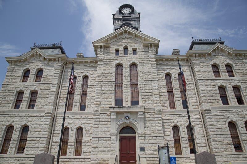 Historisk byggnadGranbury domstolsbyggnad i TX USA royaltyfri bild