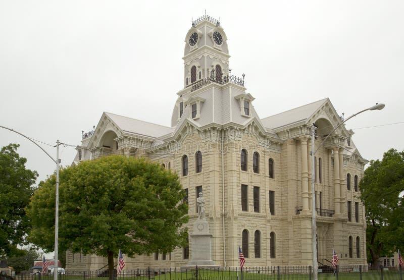 Historisk byggnadHill County domstolsbyggnad fotografering för bildbyråer