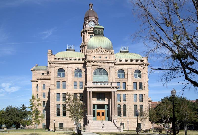 Historisk byggnadTarrant County domstolsbyggnad royaltyfria bilder