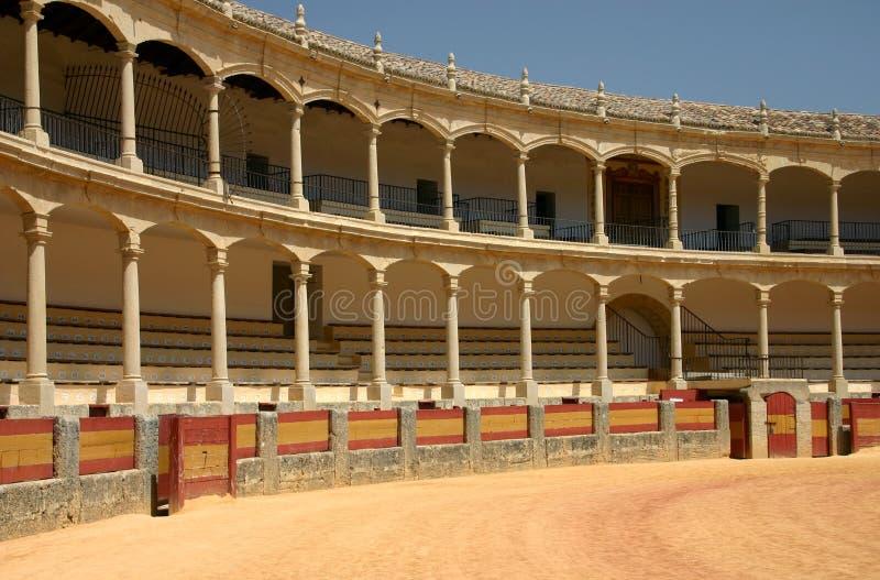 historisk cirkel för bullfighting royaltyfri bild