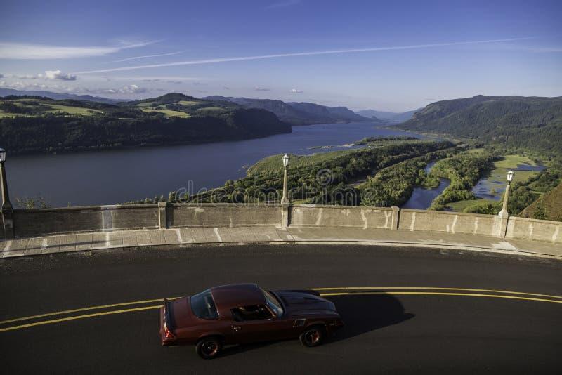 Historisk Columbia River huvudväg, Oregon royaltyfri bild