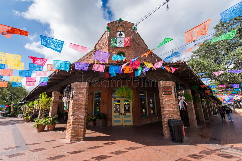 Historisk destinati för turist för köpcentrum för marknadsfyrkant mexicansk royaltyfria foton