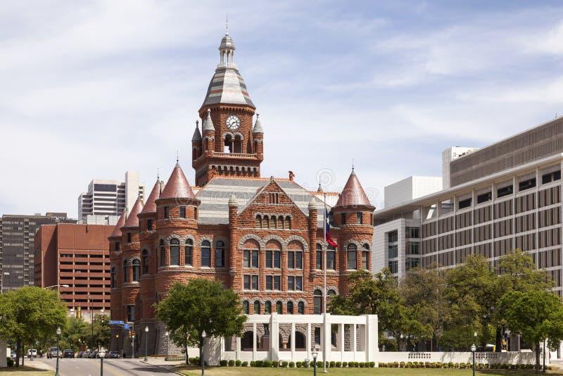 Historisk domstolsbyggnad i Dallas, USA arkivbilder