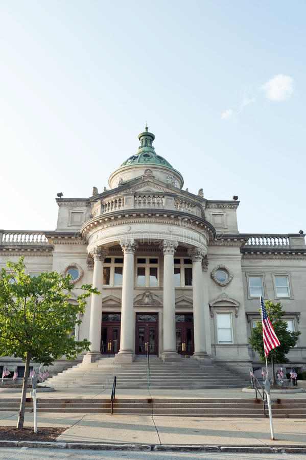 Historisk domstolsbyggnad, Somerset Co. , PA. royaltyfria bilder