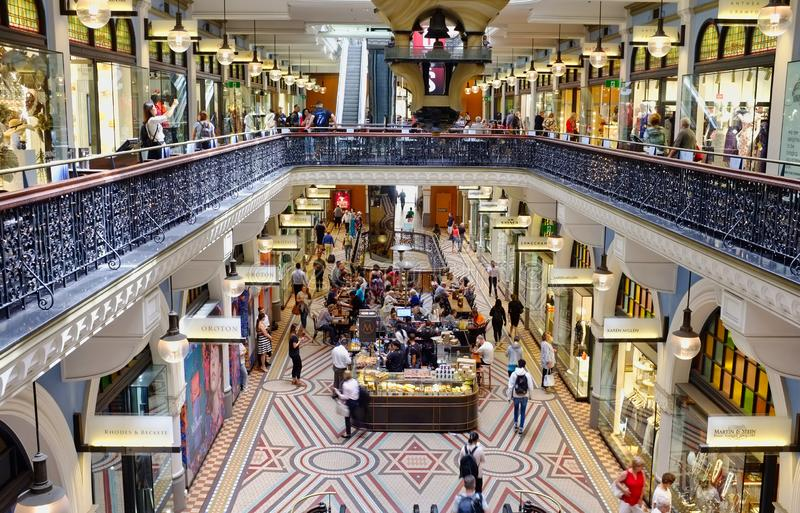 Historisk drottning Victoria Building, Sydney, NSW, Australien royaltyfri foto