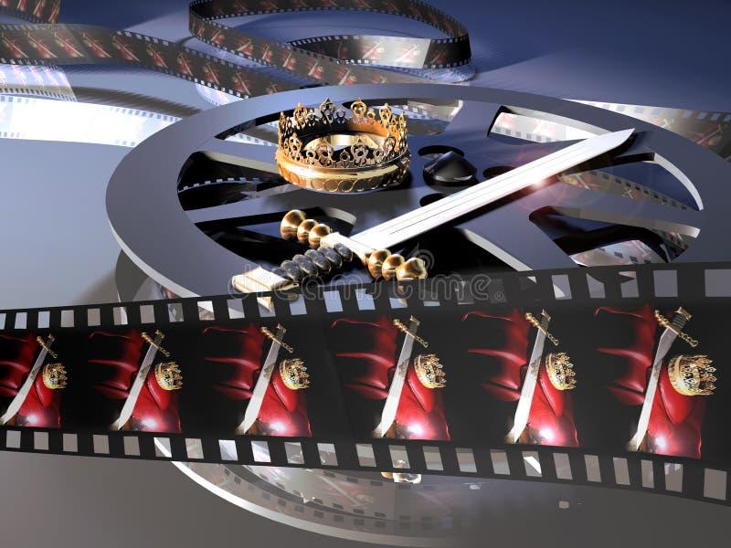 historisk film vektor illustrationer