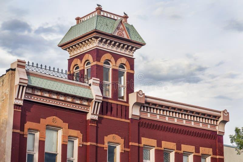 Historisk firehouse i Fort Collins arkivbilder
