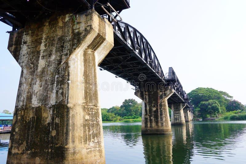 Historisk flodKwai bro arkivfoton