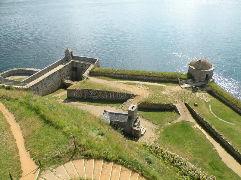 historisk fort arkivbild