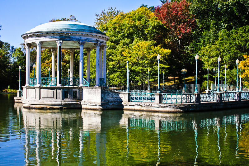 Historisk Gazebo på Roger Williams Park, försyn arkivbilder