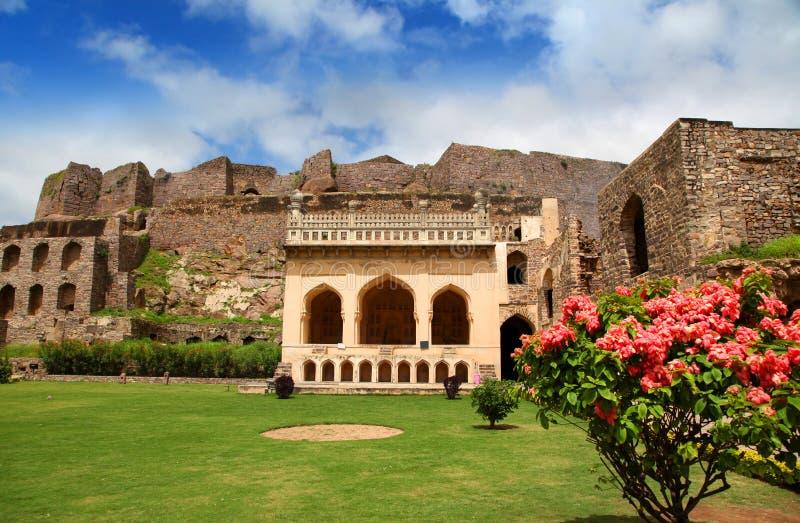Historisk Golkonda fort arkivfoto