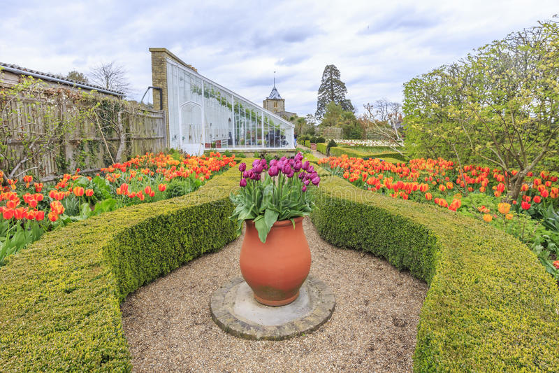 Historisk gränsmärke runt om den Arundel slotten royaltyfri foto