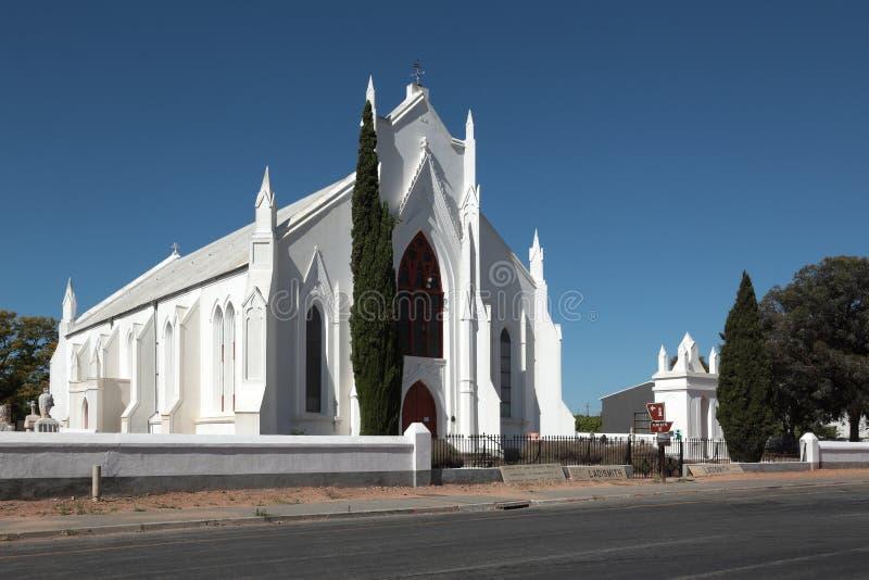 Historisk holländare omdanade kyrkan i Ladismith, Sydafrika royaltyfri bild
