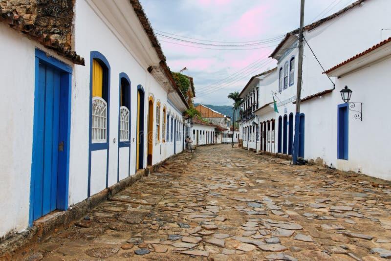 historisk husjaneiro paraty rio för de royaltyfria bilder