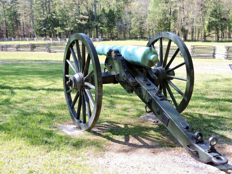 Historisk inbördeskrigkanon på den Chickamauga slagfältet arkivfoton