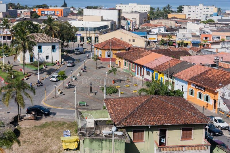 Historisk inhysa Itanhaem Sao Paulo Brazil arkivfoton