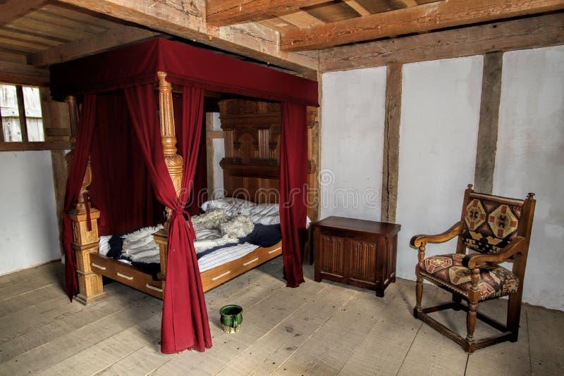Historisk inre för Jamestown bosättningbyggnad royaltyfria bilder
