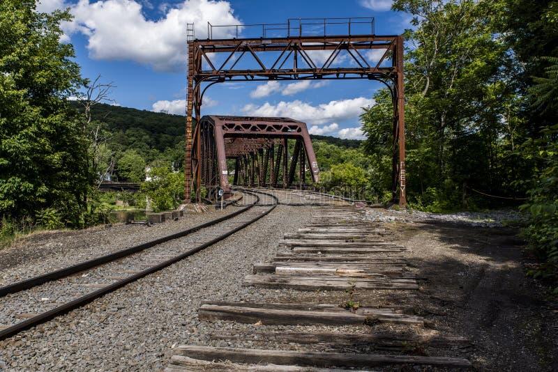 Historisk järnvägbråckbandbro i Pennsylvania royaltyfria foton