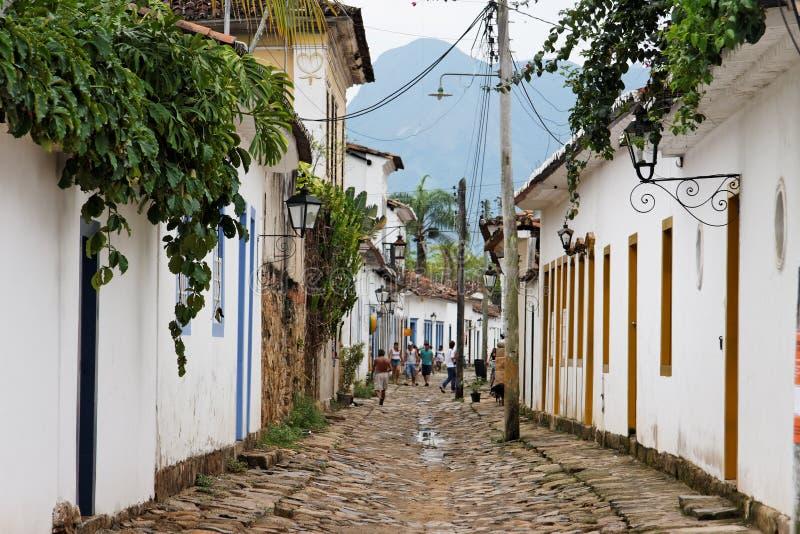historisk janeiro paraty rio för byggnadsde arkivbild