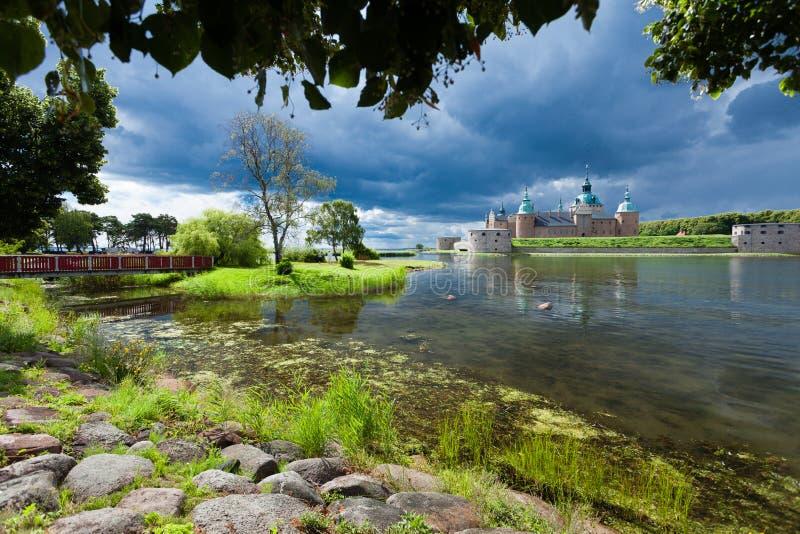 Historisk Kalmar slott i Sverige Skandinavien Europa. Gränsmärke. arkivfoto