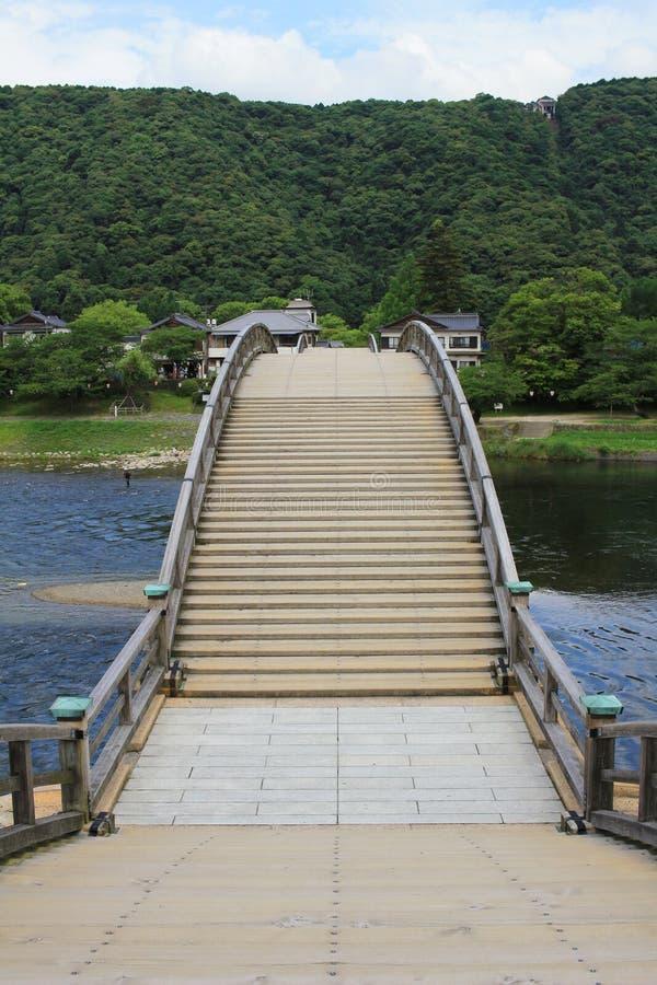Historisk Kintaikyo bro i Iwakuni, Japan fotografering för bildbyråer
