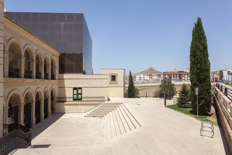 Historisk klosterbyggnad i Lorca, Spanien fotografering för bildbyråer