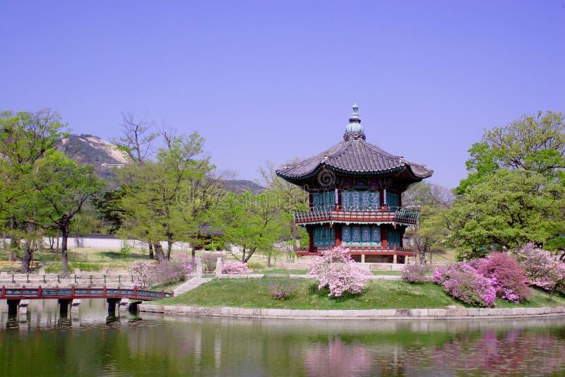 historisk korea pavillion seoul royaltyfri fotografi